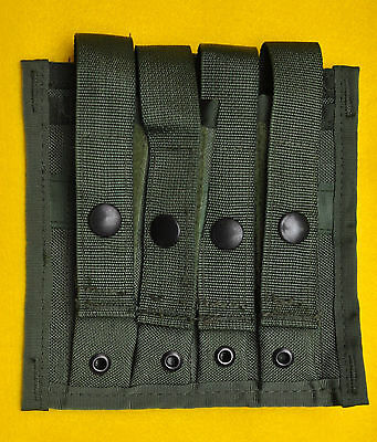 Quad 9mm Mag pouch  OD Olive Drab Brand new  Holds four service pistol mags