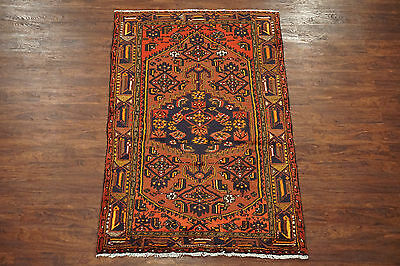 Antique 4X7 Persian Sarab 1940 Hand-Knotted Oriental Area Rug (4 x 6.6) Carpet