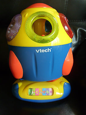 Vtech Educational Musical Space Rocket Ship Shape Sorter Toy 5 Shapes Batteries