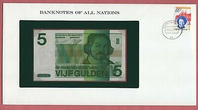 Banknotes Of All Nations 1973 Netherlands 5 Gulden P# 95 Unc