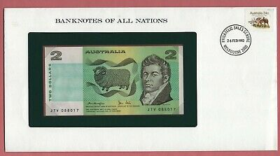 BANKNOTES OF ALL NATIONS AUSTRALIA 1979 $2 P# 43c UNC
