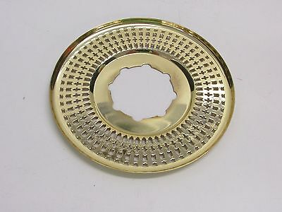 VINTAGE Kwikset DOOR ESCUTCHEON ROSETTE 283, fin: 3 POLISHED BRASS