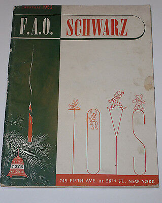 Vintage 1952 Fao Schwarz Christmas Toy Catalog! Trains/space Toys/models/dolls!!