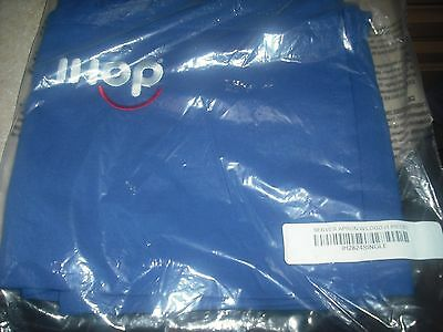 Official Blue IHOP Server Apron NEW LOGO SMILEY FACE NEW NEVER USED SEALED