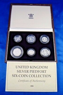 United Kingdom Silver Piedfort Six Coin Proof Set Collection Royal Mint Box COA