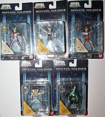 5 x Saint Seiya Moving Soldier Bronze Japan Bandai Cygnus Dragon Adromeda Etc
