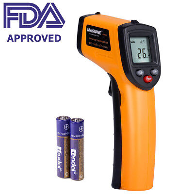 FDA Approved Digital Temperature Gun Non-Contact Infrared IR Laser Thermometer