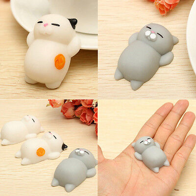 1pcs Soft Cat Squishy Healing Squeeze Fun Kid Toy Gift Stress Reliever Decor