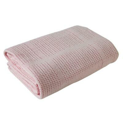 Clair De Lune Cellular Cot Bed Blanket (Pink)