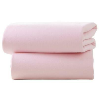Clair De Lune Fitted Cot Bed Sheets (Pink) - Pack of 2