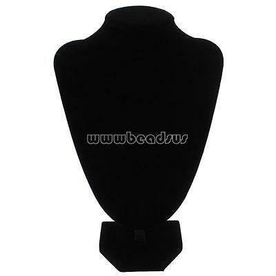 150x222x86mm Black Velvet Mannequin Necklace Display Bust Jewelry Holder Stand