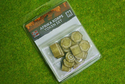 Afrika Korps TOKEN SET Flames of War GE901