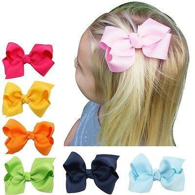 20 Pcs Girls Baby Kid Hair Bows Princess Ribbon Clip Hairpin Alligator Grosgrain