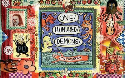One! Hundred! Demons! by Lynda Barry (English) Hardcover Book Free Shipping!