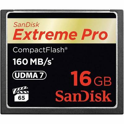 Sandisk SDCFXPS-016G-X46 - COMPACT FLASH CARD 16GB - Extreme PRO CompactFlas...