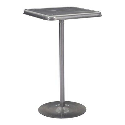 Zuo Modern Mallus Bar Table, Gunmetal - 109129