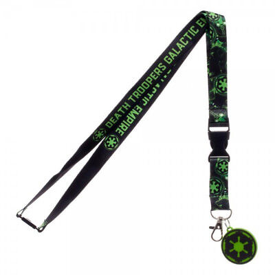 Star Wars Rogue One Death Troopers Lanyard with Empire Logo Charm, NEW UNUSED