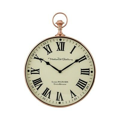 Sterling Industries Polished Copper Wall Clock, Shiny Copper - 8984-014
