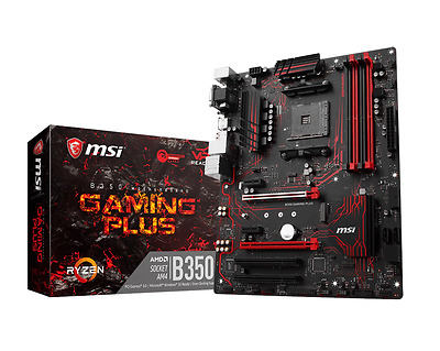 MSI B350 GAMING PLUS - ATX Motherboard for AMD Socket AM4 CPUs