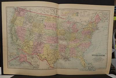 United States Map Frank Gray  1899 Double Page  J9#16