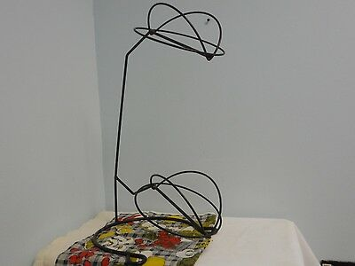 Vintage Black Metal Wire Double 2 Tier Hat Stand Display Store Rack