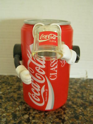 Coca Cola Can Mechanical Bank Top Pops Open When Arm Is Pushed Down