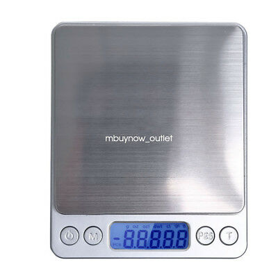 0.01g-500g Electronic Pocket Digital LCD Scales Food Jewellery Gold Weighing