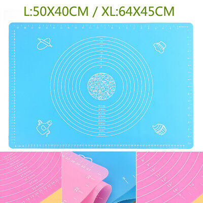 XL Silicone Rolling Mat For Pastry Fondant Sugar Cake craft Decorating Icing