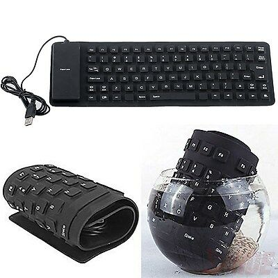 Waterproof USB 2.0 Portable Flexible Silicone Keyboard for PC Laptop Notebook
