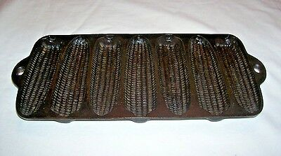 Vintage Wagner Ware Cast Iron Junior Krusty Korn Kobs Muffin Pan~#1319 E ~7/1920