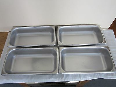 Lot Of 4 Polar Ware Nsf 18-8 Stainless Steel Pans-2 3/8 Quart-E12062