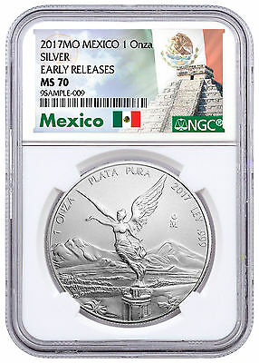 2017-Mo Mexico 1 oz Silver Libertad NGC MS70 ER Exclusive Label SKU47090