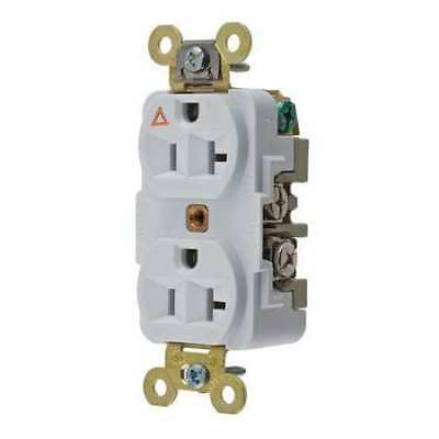 HUBBELL WIRING DEVICE-KELLEMS IG5362W 20A Duplex Receptacle 125VAC 5-20R WH