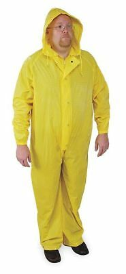 CONDOR 4PCF2 Coverall Rainsuit w/Hood, Ylw, L