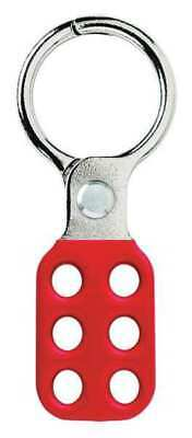 MASTER LOCK 416 Lockout Hasp,Snap-On,Red,4-3/8in. L G0067938