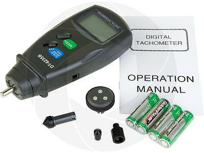 DT6235B Digital Photo Contact Tachometer RPM Meter Surface Speed Meter w/ Case