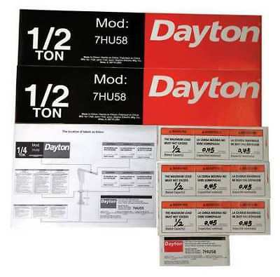 Jib Crane Label Kit,For Use With 7HU58 DAYTON 28CH77