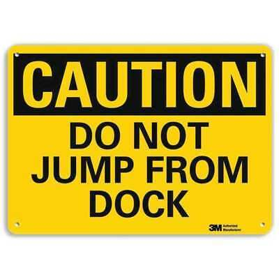 Safety Sign,Do Not Jump,7in.H LYLE U4-1182-RA_10X7