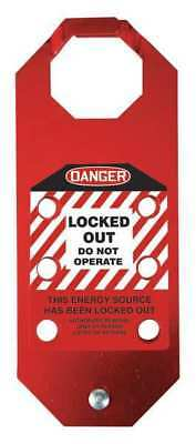 STOPOUT KDH643 Lockout Hasp,Red,6-3/4in.L x 3-1/8in.W G1881330