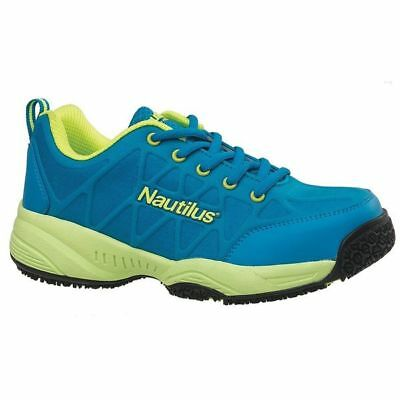Work Boots,Women,7-1/2W,Lace Up,Blue,PR NAUTILUS SAFETY FOOTWEAR N2154