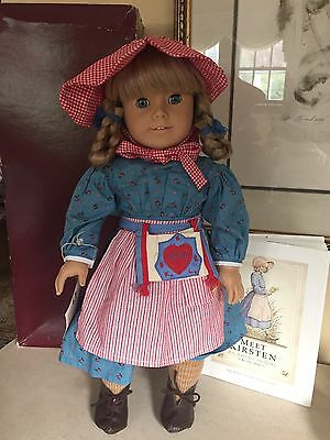 American Girl PLEASANT COMPANY KIRSTEN White Body Aqua Eyes In BOX First Ed Book