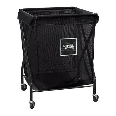X-Frame Cart,8.9 cu. ft.,Black,Mesh ROYAL BASKET TRUCK G08-KKX-XMA-3ONN