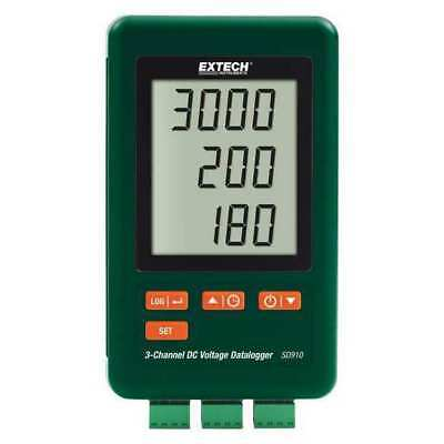 EXTECH SD910 DC Voltage Logger,4 GB,3 Channel G4105748