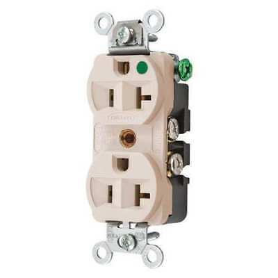 HUBBELL WIRING DEVICE-KELLEMS HBL8300HLA 20A Duplex Receptacle 125VAC 5-20R