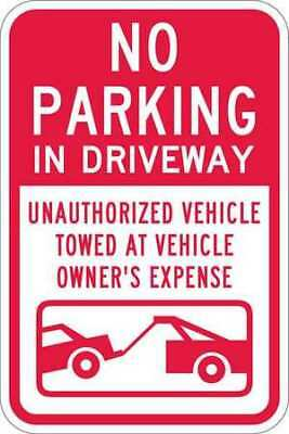 LYLE T1-1068-HI_12x18 Sign, No Parking in Driveway, 18 x12 In