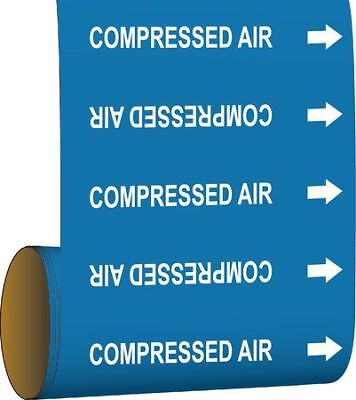 BRADY 41456 Pipe Marker, Compressed Air, Blue