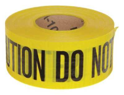 BRADY 91102 Barricade Tape, Yellow/Black, 500ft x 3 In