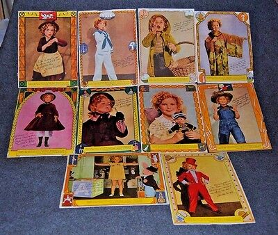 1936 Shirley Temple Wheaties Box Collector Back Panel - Lot of 10