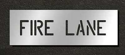 RAE STL-116-70431 Pavement Stencil, Fire Lane, 4 in