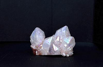 "Angel Opal Aura Spirit Quartz Small Cluster L 1-3/8"" W 13/16"" H 1/2"""